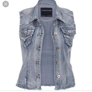 Maurices Denim Vest XL 💙